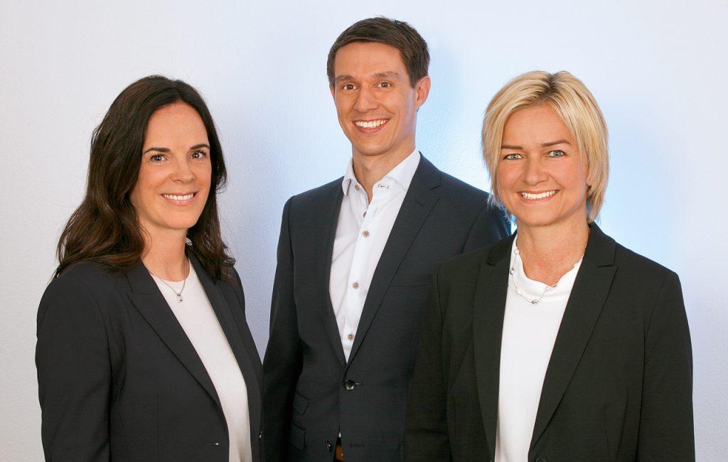 Kanzleileitung, Mag. Caroline Kerber, Bianca Ebner-Brunner, MMag. Christian Mitterer